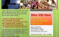 ĐÊM VIỆT NAM --- VIETNAM NIGHT: Vietnamese Cultural Heritage Night 2014