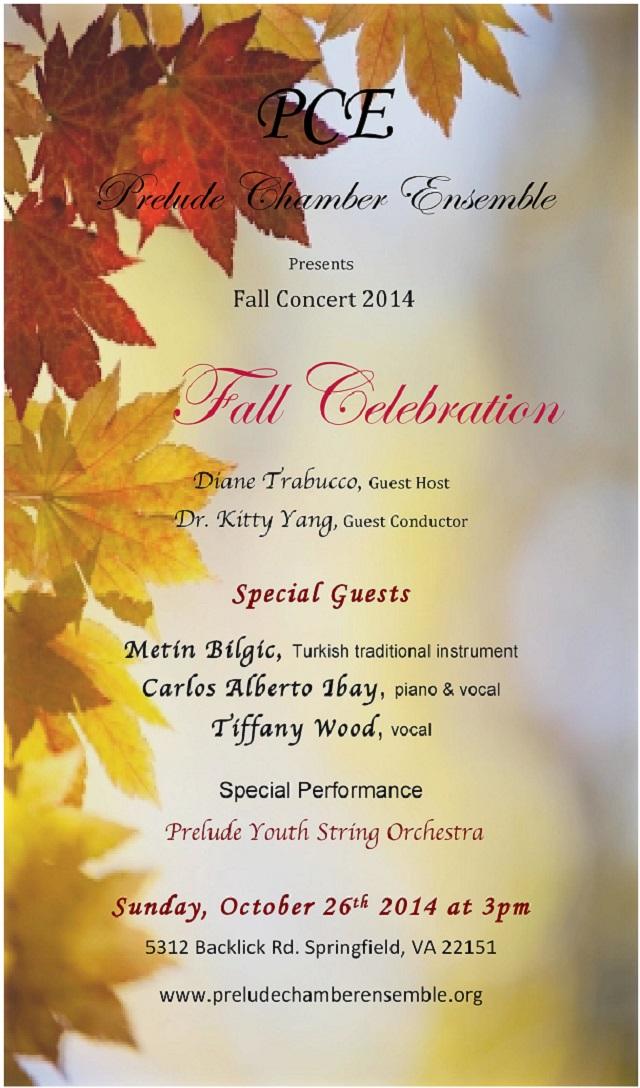 2014 OCT 17 PCE Fall Concert 2014