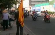 Cờ Vàng Ba Sọc Đỏ (VNCH) tại Quận 7 Saigon