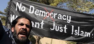 2015 NOV 19 No_Democracy_We_want_just_Islam 300