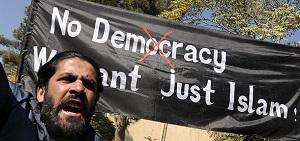 2015 NOV 19 No_Democracy_We_want_just_Islam 300